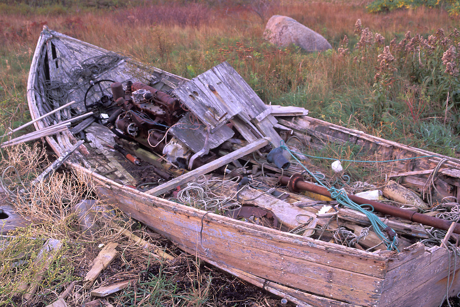 Wrecked fishing boat, Beals, Maine