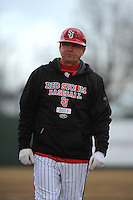 St. John's Redstorm Head Coach Ed Blankmeyer during 2nd game of double header against the University of Cincinnati Bearcats at Jack Kaiser Stadium on March 28, 2013 in Queens, New York. Cincinnati defeated St. John's 6-5.      . (Tomasso DeRosa/ Four Seam Images)