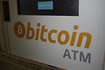 Bitcoin  Compro Euro  First Bitcoin Crypto currency  shop in Italy in Rovereto, Italy, December 11, 2017 ATM Bitcoin