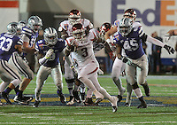 NWA Democrat-Gazette/MICHAEL WOODS • @NWAMICHAELW<br /> University of Arkansas running back Arkansas running back Alex Collins (3) breaks away from the Kansas State defense for a big run in the 4th quarter of the Razorbacks 45-23 win over Kansas State in the 57th annual AutoZone Liberty Bowl January 2, 2016.