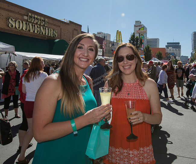 Mandy Cochran and Allison Siadatan during the Italian Festival in downtown Reno on Saturday, Oct. 7, 2017.