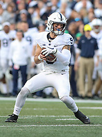 College Park, MD - November 25, 2017: Penn State Nittany Lions quarterback Trace McSorley (9) in action during game between Penn St and Maryland at  Capital One Field at Maryland Stadium in College Park, MD.  (Photo by Elliott Brown/Media Images International)