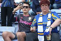Leeds United fans <br /> <br /> Photographer Stephen White/CameraSport<br /> <br /> The EFL Sky Bet Championship - Wigan Athletic v Leeds United - Saturday 17th August 2019 - DW Stadium - Wigan<br /> <br /> World Copyright © 2019 CameraSport. All rights reserved. 43 Linden Ave. Countesthorpe. Leicester. England. LE8 5PG - Tel: +44 (0) 116 277 4147 - admin@camerasport.com - www.camerasport.com