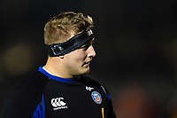 Jack Walker of Bath Rugby looks on during the pre-match warm-up. Premiership Rugby Cup match, between Bath Rugby and Gloucester Rugby on February 3, 2019 at the Recreation Ground in Bath, England. Photo by: Patrick Khachfe / Onside Images