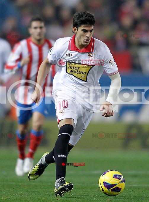 Sevilla's Diego Perotti during La Liga match.November 25,2012. (ALTERPHOTOS/Acero) /NortePhoto