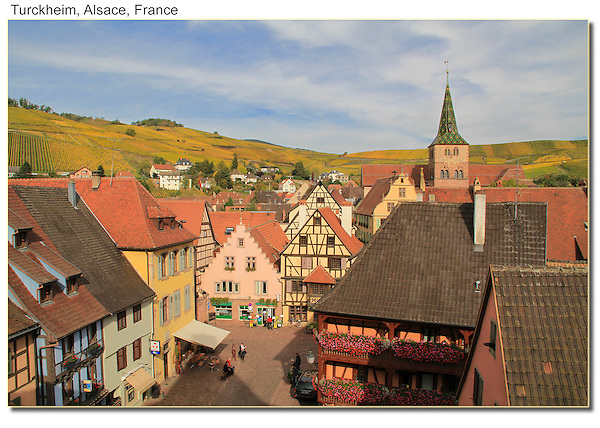 View from the tower in Turckheim, Alsace, France.