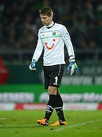 FUSSBALL   1. BUNDESLIGA   SAISON 2012/2013    20. SPIELTAG SV Werder Bremen - Hannover 96                           01.02.2013 Torwart Ron Robert Zieler (Hannover 96) enttaeuschz