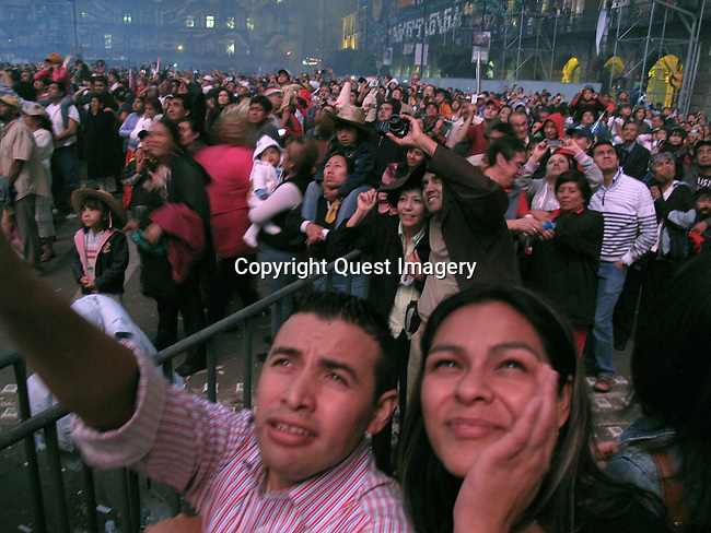 Celebrations of Mexico's Bicentennial on September 16, 2010.  The largest of celebrations were held in Mexico City's main square called the Zocalo. <br />