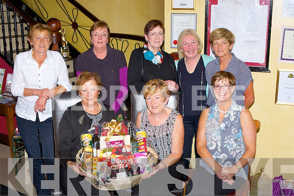 St Finian's Lady's Golf society Captain Eileen O'Leary presents the Christmas Hampers competition winner Kathleen Wrenn in Lord Kenmares on Friday night front row l-: Eileen O'Leary captain, Kathleen Wrenn, Patricia Lynch. Back row: Mary Lynch, Mary O'Connor, Maureen Culloty, Julie Leonard and Sarah Scanlon