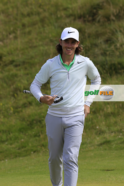Tommy Fleetwood (ENG) on the 2nd green during Saturday's Round 3 of the 2017 Dubai Duty Free Irish Open held at Portstewart Golf Club, Portstewart, Co Derry, Northern Ireland. 08/07/2017<br /> Picture: Golffile | Eoin Clarke<br /> <br /> <br /> All photo usage must carry mandatory copyright credit (&copy; Golffile | Eoin Clarke)
