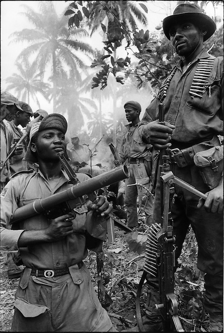 Ibos soldiers, civil war, Biafra, Nigeria, April 1968