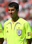 02 July 2007: Referee Ravshan Irmatov (UZB). At the National Soccer Stadium, also known as BMO Field, in Toronto, Ontario, Canada. Mexico's Under-20 Men's National Team defeated Gambia's Under-20 Men's National Team 3-0 in a Group C opening round match during the FIFA U-20 World Cup Canada 2007 tournament.