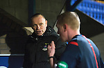 St Johnstone v Inverness Caledonian Thistle...20.12.14   SPFL<br /> Yogi Hughes has words with Ref brian Colvin at full time<br /> Picture by Graeme Hart.<br /> Copyright Perthshire Picture Agency<br /> Tel: 01738 623350  Mobile: 07990 594431