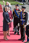 """PRINCE HAAKON AND PRINCESS METTE-MARIT OF NORWAY WITH PRINCE FREDERIK AND PRINCESS MARY OF DENMARK.Religious Wedding Ceremony of HRH the Hereditary Grand Duke and Countess Stéphanie de Lannoy at Cathedral of Our lady of Luxembourg, Luxembourg_20-10-2012.Mandatory credit photo: ©Dias/NEWSPIX INTERNATIONAL..(Failure to credit will incur a surcharge of 100% of reproduction fees)..                **ALL FEES PAYABLE TO: """"NEWSPIX INTERNATIONAL""""**..IMMEDIATE CONFIRMATION OF USAGE REQUIRED:.Newspix International, 31 Chinnery Hill, Bishop's Stortford, ENGLAND CM23 3PS.Tel:+441279 324672  ; Fax: +441279656877.Mobile:  07775681153.e-mail: info@newspixinternational.co.uk"""