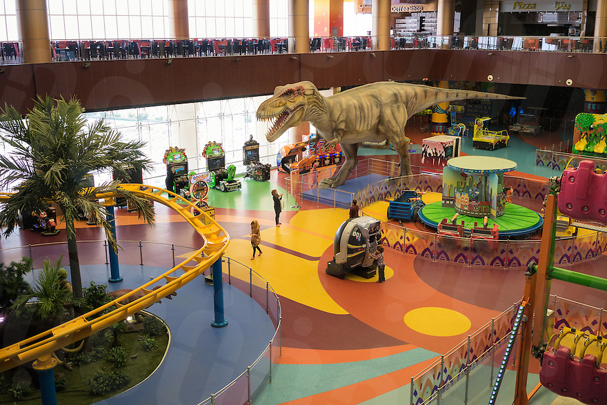 June 29, 2014 - Shiraz, Iran. Children play at Iran Land, an amusement park built inside the Persian Gulf Complex, a large shopping mall located in the outskirts of Shiraz. © Thomas Cristofoletti / Ruom