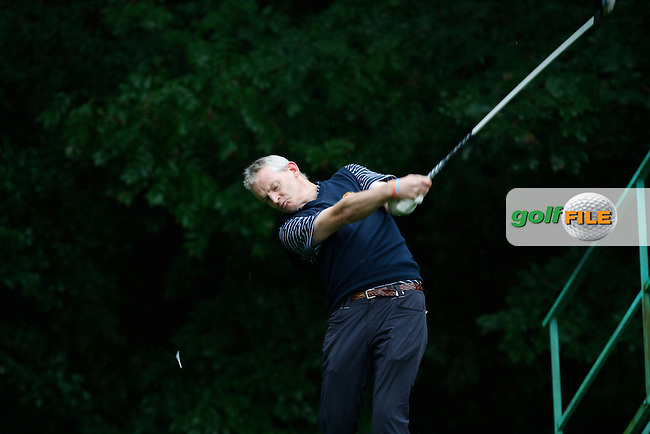 Lee Harrington (Limerick) on the 4th tee during Round 2 of the 104th Irish PGA Championship at Adare Manor Golf Club on Friday 3rd October 2014.<br /> Picture:  Thos Caffrey / www.golffile.ie