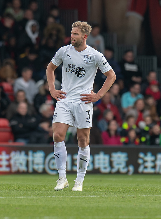 Burnley's Charlie Taylor <br /> <br /> Photographer David Horton/CameraSport<br /> <br /> The Premier League - Bournemouth v Burnley - Saturday 6th April 2019 - Vitality Stadium - Bournemouth<br /> <br /> World Copyright © 2019 CameraSport. All rights reserved. 43 Linden Ave. Countesthorpe. Leicester. England. LE8 5PG - Tel: +44 (0) 116 277 4147 - admin@camerasport.com - www.camerasport.com