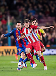 Saul Niguez Esclapez (r) of Atletico de Madrid vies for the ball with Lionel Andres Messi of FC Barcelona during their Copa del Rey 2016-17 Semi-final match between FC Barcelona and Atletico de Madrid at the Camp Nou on 07 February 2017 in Barcelona, Spain. Photo by Diego Gonzalez Souto / Power Sport Images