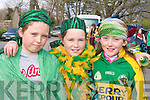 Kate Dennehy, Triona Clifford and Brogan Dwyer enjoying the parade in Milltown on Monday   Copyright Kerry's Eye 2008