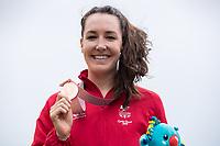 Picture by Alex Whitehead/SWpix.com - 14/04/2018 - Commonwealth Games - Cycling Road - Currumbin Beachfront, Gold Coast, Australia - Women's Road Race, Bronze - Dani Rowe of Wales.