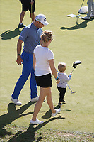 Oliver Wilson (ENG) with his family during Round 3 of the Portugal Masters, Dom Pedro Victoria Golf Course, Vilamoura, Vilamoura, Portugal, 26/10/2019<br /> Picture Andy Crook / Golffile.ie<br /> <br /> All photo usage must carry mandatory copyright credit (© Golffile   Andy Crook)