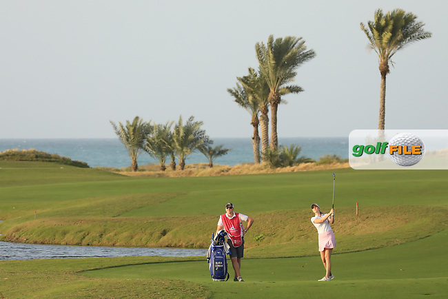Olivia Cowen (GER) during the first round of the Fatima Bint Mubarak Ladies Open played at Saadiyat Beach Golf Club, Abu Dhabi, UAE. 10/01/2019<br /> Picture: Golffile | Phil Inglis<br /> <br /> All photo usage must carry mandatory copyright credit (&copy; Golffile | Phil Inglis)