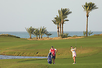 Olivia Cowen (GER) during the first round of the Fatima Bint Mubarak Ladies Open played at Saadiyat Beach Golf Club, Abu Dhabi, UAE. 10/01/2019<br /> Picture: Golffile | Phil Inglis<br /> <br /> All photo usage must carry mandatory copyright credit (© Golffile | Phil Inglis)