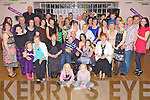 Birthday Boy - Sean O'Donnell from Drommurin, Listowel, seated centre having a ball with friends and family at his suprise 40th birthday party held in The Ballyroe Heights Hotel on Saturday night................................................................................................................................................................................................................................................................................................ ............