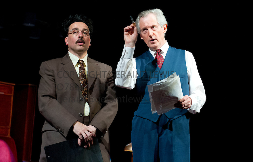Democracy by Michael Frayn, directed by  Paul Miller. With Patrick Drury as Willy Brandt, Aidan McArdle as Gunter Guillaume.  Opens at The Old Vic Theatre on 20/6/12 CREDIT Geraint Lewis