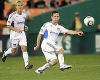 Sam Cronin #4 of the San Jose Earthquakes during an MLS match against D.C. United at RFK Stadium in Washington D.C. on October 9 2010. San Jose won 2-0.