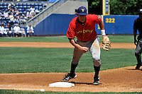 State College Spikes first baseman Chris Lashmet #32 during a game against the Staten Island Yankees at Richmond County Bank Ballpark at St. George on July 14, 2011 in Staten Island, NY.  Staten Island defeated State College 6-4.  Tomasso DeRosa/Four Seam Images
