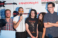 Alex Kasvikis, James Wolf, Daisy Hamel-Buffa and Ben Salk of DAISY band attend RADD(R)+UBER Present Free Show at The Hi Hat To Support DUI Awareness & Road Safety on September 29, 2017 (Photo by Tony Ducret/Guest of a Guest)