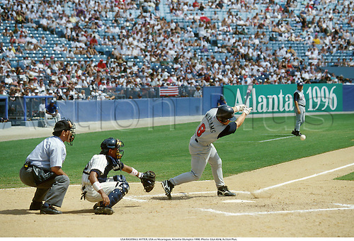 USA BASEBALL HITTER, USA vs Nicaragua, Atlanta Olympics 1996. Photo: Glyn Kirk/Action Plus....1996.Olympic games