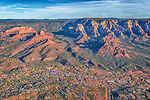 Departure: Uptown Sedona and Bear Wallow Canyon from The Air