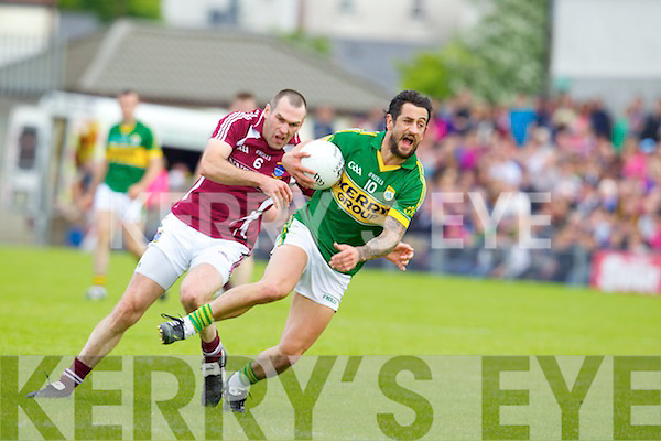 Paul Galvin Kerry v Michael Ennis Westmeath in Round 2 of the All Ireland qualifiers ay Cusack park in Mullingar on Sunday 15th July 2012.