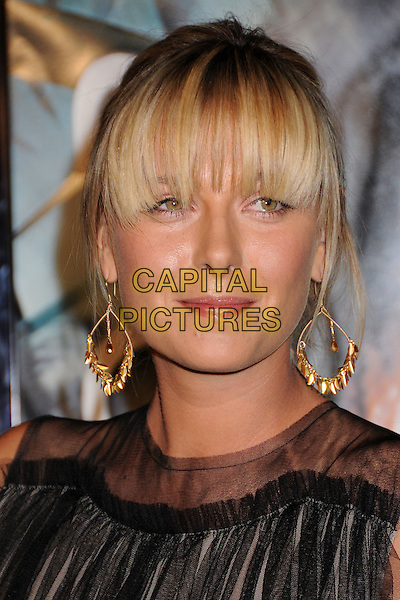 "MARIA SHARAPOVA.""10,000 B.C."" Los Angeles Premiere at Grauman's Chinese Theatre, Hollywood, California, USA..March 5th, 2008.headshot portrait gold hoop earrings fringe bangs .CAP/ADM/BP.©Byron Purvis/AdMedia/Capital Pictures."