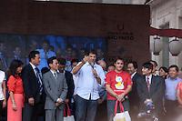 SAO PAULO, SP, 02 DE FEVEREIRO DE 2013 - ANO NOVO CHINES - O prefeito da Cidade de Sao Paulo, Fernando Haddad (PT), particpa do inicio das festividades do Ano Novo Chines, na Praca da Liberdade, zona cental da capital. FOTO RICARDO LOU - BRAZIL PHOTO PRESS