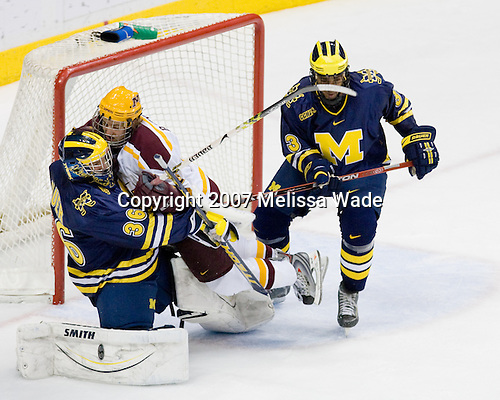 Billy Sauer (Michigan - 36), Jay Barriball (Minnesota - 26), Scooter Vaughan (Michigan - 3) - The University of Minnesota Golden Gophers defeated the University of Michigan Wolverines 4-3 in the Ice Breaker Tournament final on Saturday, October 13, 2007, at the Xcel Energy Center in St. Paul, Minnesota.