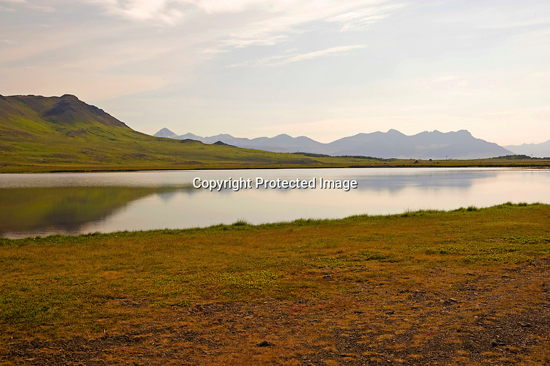 View of Helgrindur Mountain Range on the Snaefellsnes Peninsula in West Iceland