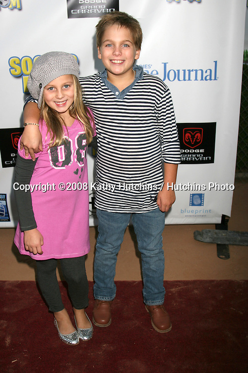 """Ellery & Dylan Sprayberry arriving at The Premiere of """"Soccer Mom"""" presented by Ladies' Home Journal & Bogner Entertainment at the La Cienega Park, in Beverly Hills, CA on.September 20, 2008.©2008 Kathy Hutchins / Hutchins Photo...."""