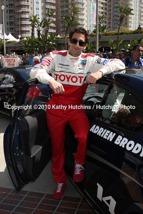 Adrien Brody.at the Toyota Celeb Race Qualifying 2010.Toyota Celeb Race Qualifying 2010.Long Beach, CA.April 16, 2010.©2010 Kathy Hutchins / Hutchins Photo...