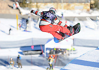 Ski and snowboard halfpipe competition at Copper Mountain, Colorado on January 9, 2010.