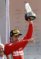09 09 2012  FIA Formula One World Championship 2012 Grand Prix of Italy 5 Fernando Alonso ESP Scuderia Ferrari 3rd in the GP Italy Monza on the Awards Ceremony podium