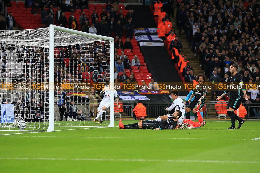 Dele Ali of Tottenham Hotspur scores the opener during Tottenham Hotspur vs Real Madrid, UEFA Champions League Football at Wembley Stadium on 1st November 2017