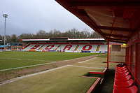 General view from the dugout during Stevenage vs Crewe Alexandra, Sky Bet EFL League 2 Football at the Lamex Stadium on 10th March 2018