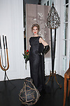 Soprano singer Sydney Anderson poses in an outfit from the Barbara Tfank Fall Winter 2019 collection on February 13, 2019 at The Elizabeth Collective during New York Fashion Week.