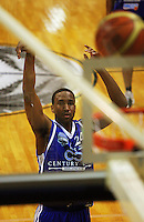 Ernest Scott shoots a penalty during the NBL Round 12 match between the Wellington Saints and Nelson Giants at TSB Bank Arena, Wellington, New Zealand on Thursday 15 May 2008. Photo: Dave Lintott / lintottphoto.co.nz