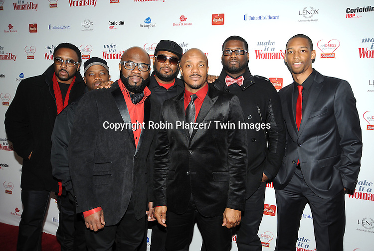 Naturally 7 attends Woman's Day Red Dress Awards on February 15, 2012 at Jazz at Lincoln Center in New York City. Dr Oz, Star Jones and US Surgeon General Dr Regina Benjamin were honored.