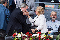 Inigo Mendez de Vigo and Manuela Carmena during the ATP final of Mutua Madrid Open Tennis 2017 at Caja Magica in Madrid, May 14, 2017. Spain. /NortePhoto.com