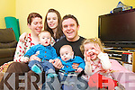 Baby Samuel Murphy back home from hospital pictured from left with his family: Aisling, Paul, Shane, Samuel, Aoife and Shauna.